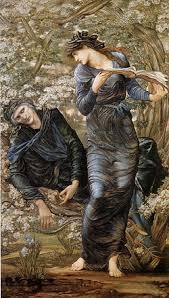 "E. Burne-Jones ""Oczarowanie Merlina"""